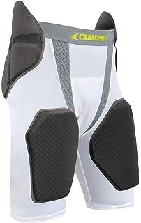 Grey//Charcoal Inset CHAMPRO Youth FPGU6 Tri-Flex 5-Pad Integrated Girdle M