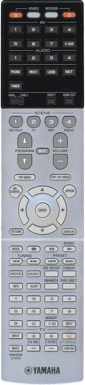 Amazon.com: Yamaha RAV508 Audio/Video Receiver Remote Control for RX-A1030 (ZF72510): Home Audio & Theater