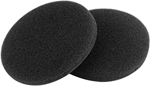 "Foam Ear Pad Replacement Cushions, Headphone Earphone Headset Disposable Sponge Covers (60mm - 2.4"") 10 Pairs"