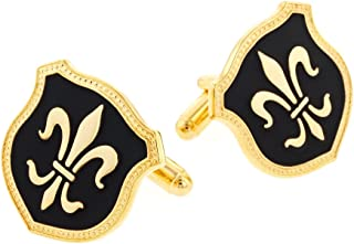 product image for JJ Weston Fleur de Lis Cufflinks. Made in The USA.