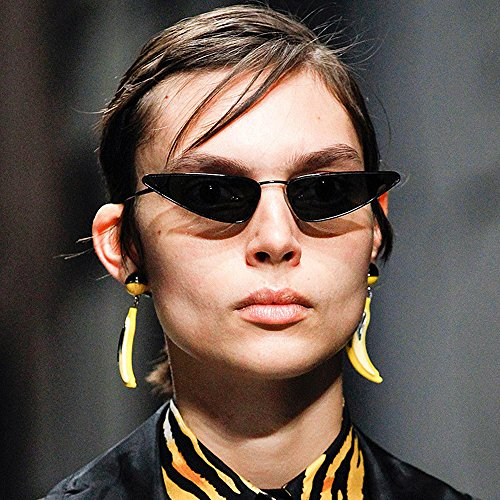 Sun Small Retro Anti Eye Glasses Fashion UV Vintage Black Sunglasses Unique Cat Women 8wqZdgYB