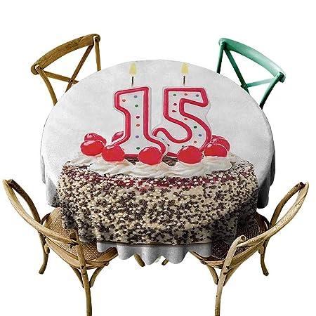 Zmlove Mantel Lavable a máquina para 13 cumpleaños con ...