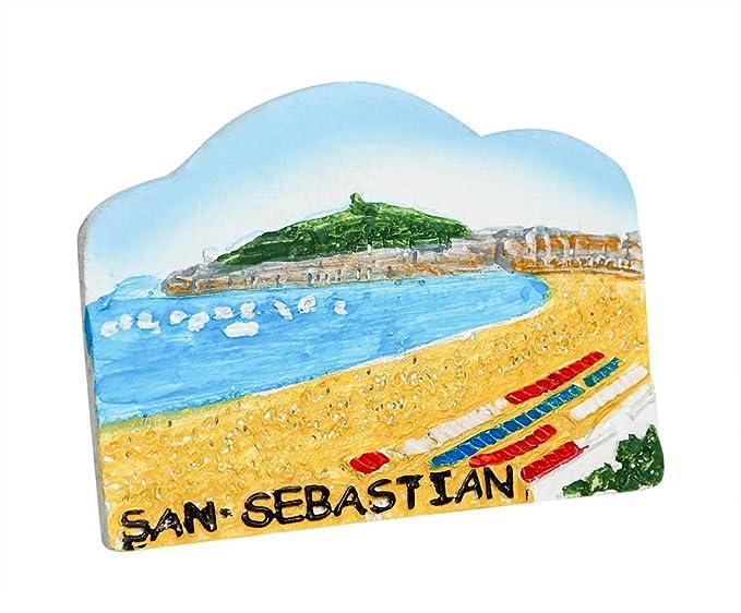 zamonji Playa de San Sebastian, España 3D Imanes para Refrigerador ...