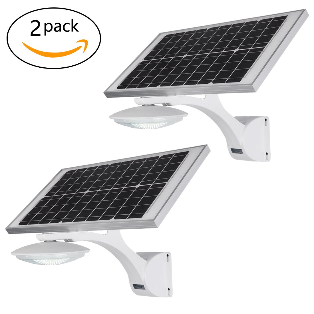 18 Watt LED Solar Street Light, Homocentric Outdoor Wireless LED Solar Motion Light, Waterproof Solar Post Light, Solar Powered Spotlight for Home, Garden, Lawn, Road, Hallway, Patio(2 Pack)
