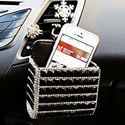 Bling Crystal Air Vent Storage Pouch