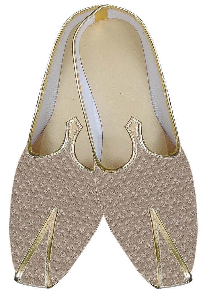 INMONARCH Crema Hombres Último Buscar Zapatos de Boda MJ0015 44 EU