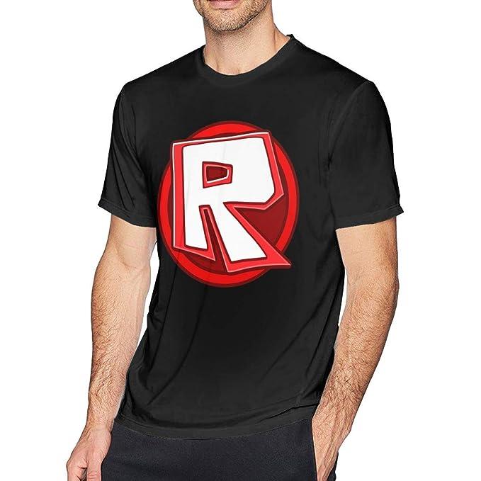 Acme&Real Mens Cool Roblox Circle Logo T Shirts Black
