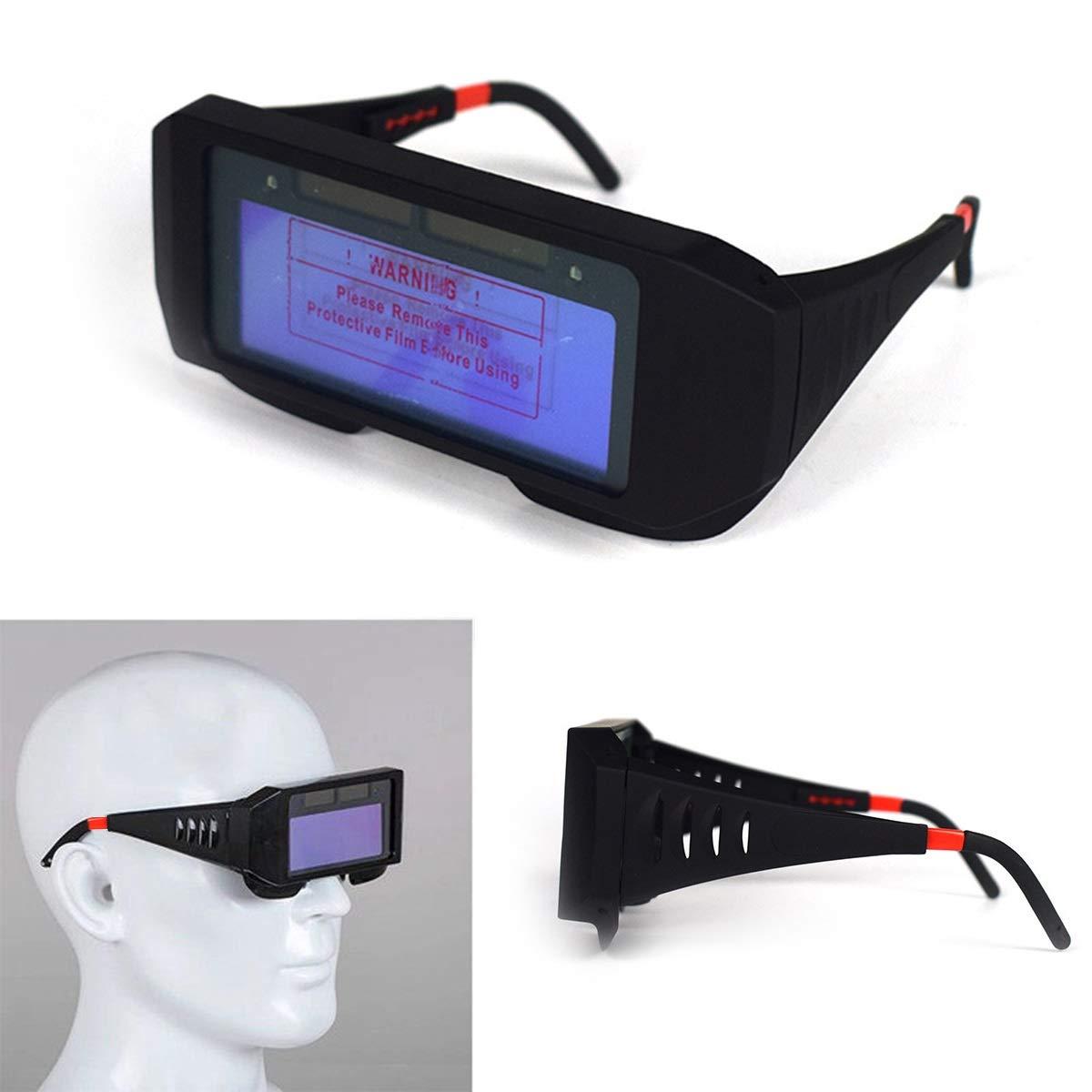 BigBig Style Solar Powered Auto Oscurecimiento Soldadura Ojos Goggle Soldadura Blinkers Soldador Gafas: Amazon.es: Electrónica