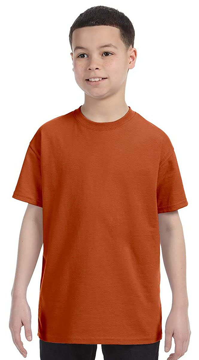 X-Small Texas Orange Jerzees Big Boys Shoulder Tape T-Shirt