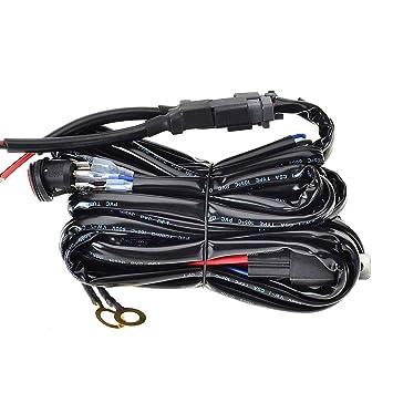 KAWELL Kabelbaum Kabelsatz Adapter 40 Ampere Relais ON/OFF Schalter ...