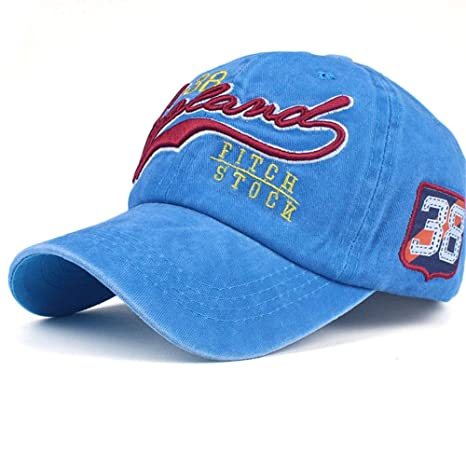 Gorra de béisbol Lavada, paño de algodón, Gorra Bordada, Gorra ...