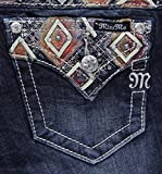 Miss Me Junior's Embellished Dark Wash Bootcut Jean, Dark Blue, 26