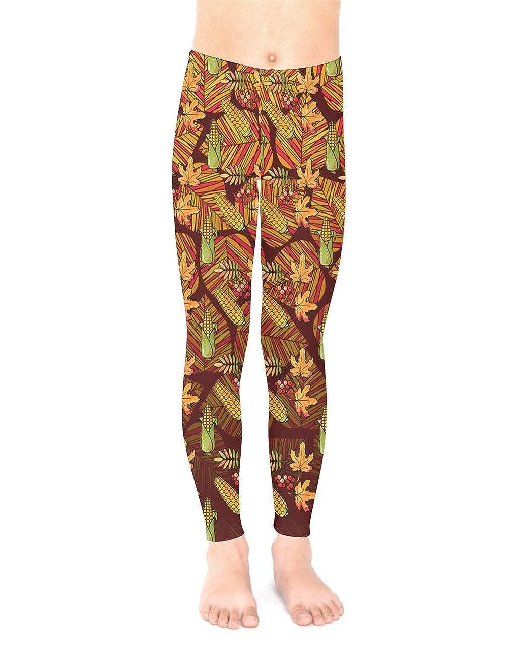 Size 2-16 PattyCandy Unisex Little /& Big Kids Stretchy Pants Autumn Leaves Heart Pattern Kids Leggings