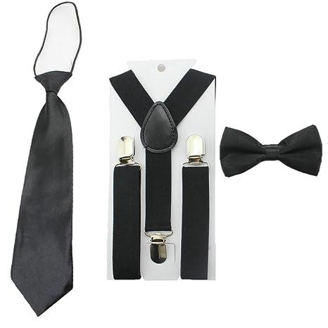 653d06a29a0 Toddler Baby Boys Clip On Suspenders Bow Tie Necktie Wedding ...