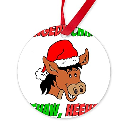 cafepress italian christmas donkey round christmas ornament - The Italian Christmas Donkey