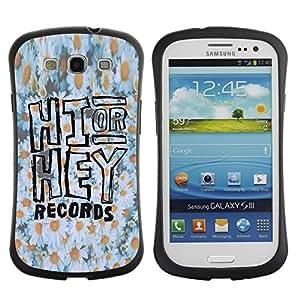 Paccase / Suave TPU GEL Caso Carcasa de Protección Funda para - hi hey daisy floral pattern white yellow - Samsung Galaxy S3 I9300