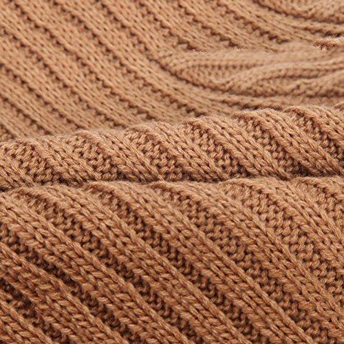 Tops Sweater Girls' Knitted JIANLANPTT Winter Brown Dress Pullovers Crochet Tutu 8gqa1w
