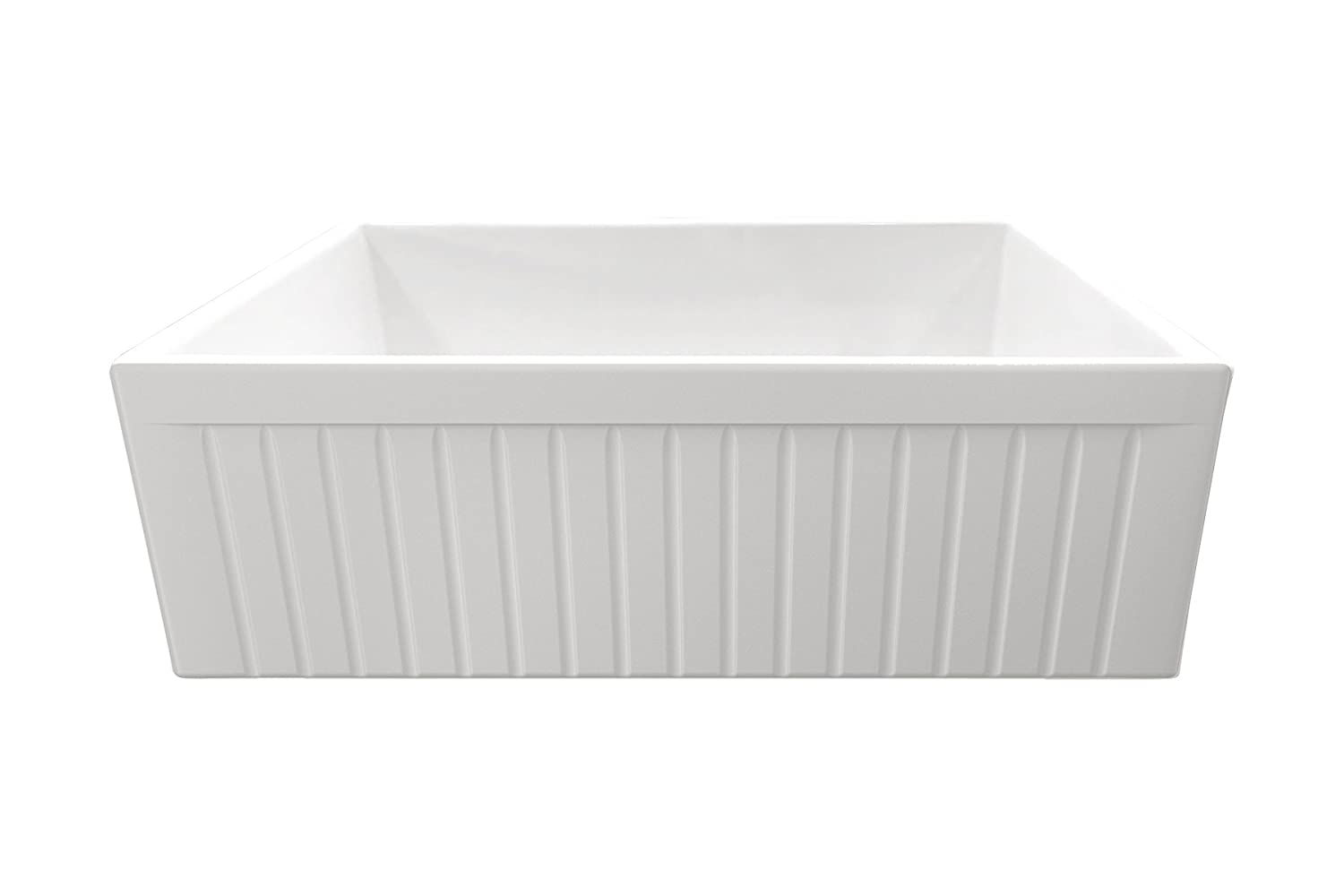 MSFC30FLT 30 Fluted Plain Reversible Fireclay Kitchen Sink