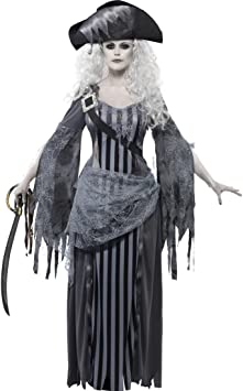 Amakando Pirata Fantasma Mujer Disfraz de Pirata Zombie M 40/42 ...
