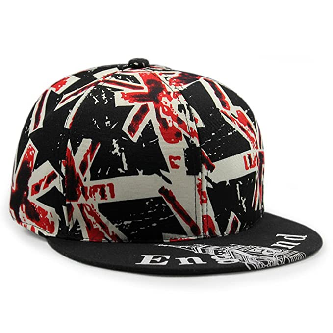 62b3f0c2bda LOCOMO UK Britain Union Jack Flag England Patriot Snapback Cap FFH258BLK at  Amazon Women s Clothing store