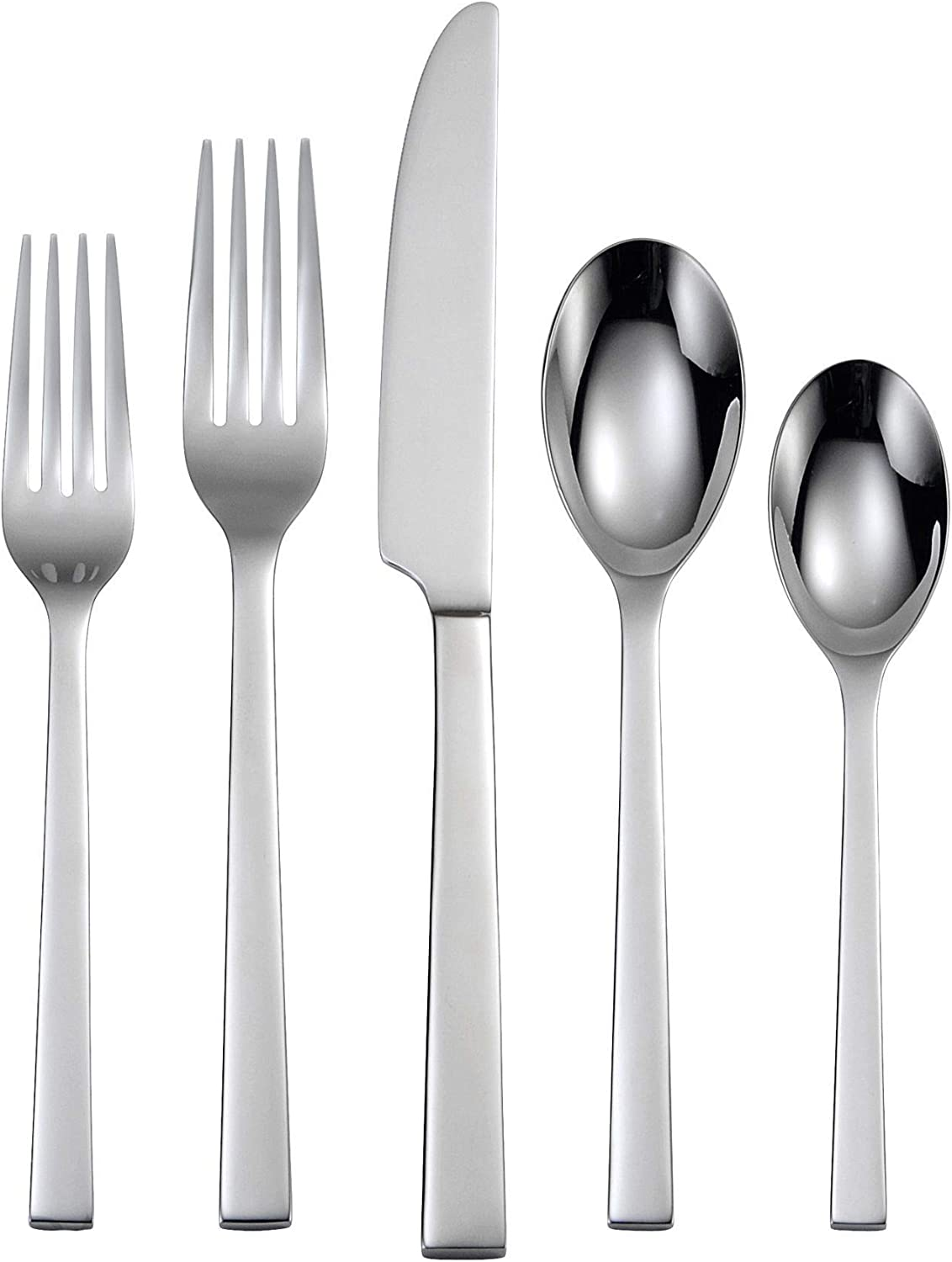 Oneida Chef's Table 20 Piece Everyday Flatware, Service for 4, 18/0 Stainless Steel, Silverware Set
