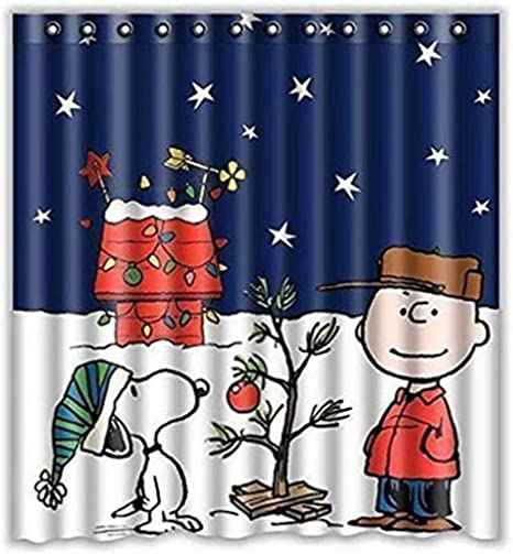 Peanuts Charlie Brown Snoopy Christmas  Shower Curtain Hooks BATH /& HAND Towels