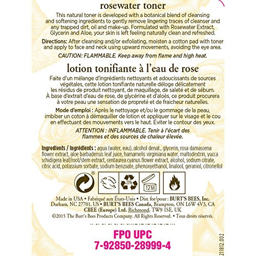 Burt's Bees Rosewater Toner 8oz by Burt's Bees (Image #1)