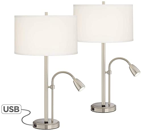 ORE International 28 Satin Nickel Solid Crystal Table Lamp
