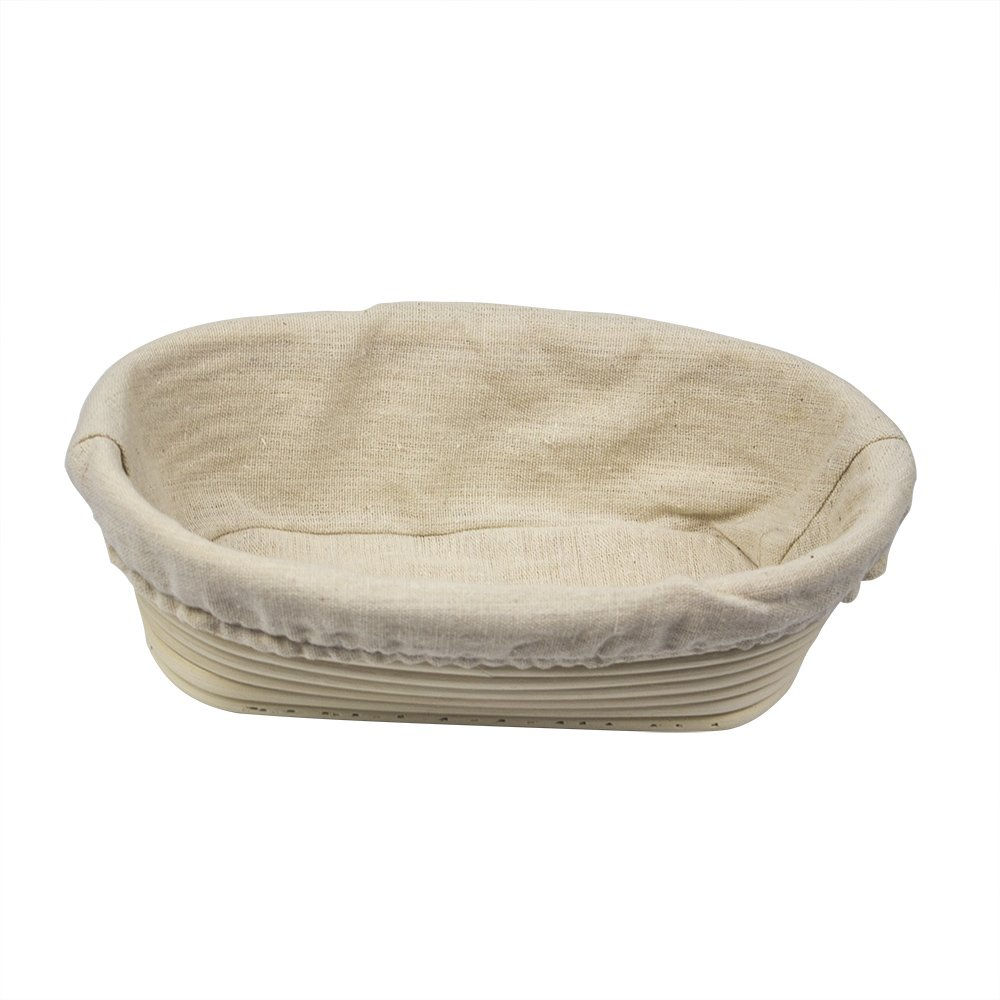 2 Pack of 5 Inch Round Brotform Banneton Proofing Baskets with Liner Bread Bowl for Baking Dough with Rising Pattern