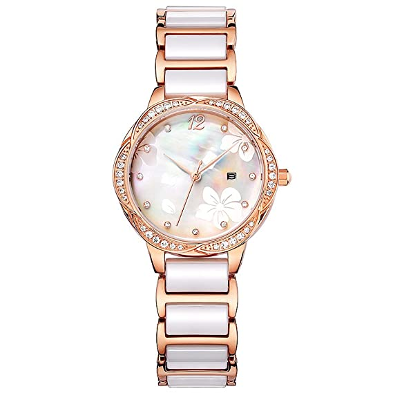 Reloj para mujer Ceramic Fashion 2018 New Clover Reloj para mujer resistente al agua Diamond
