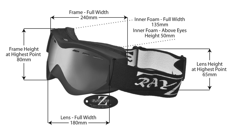 356a15d7e31 Rayzor Ski Snowboarding Goggles