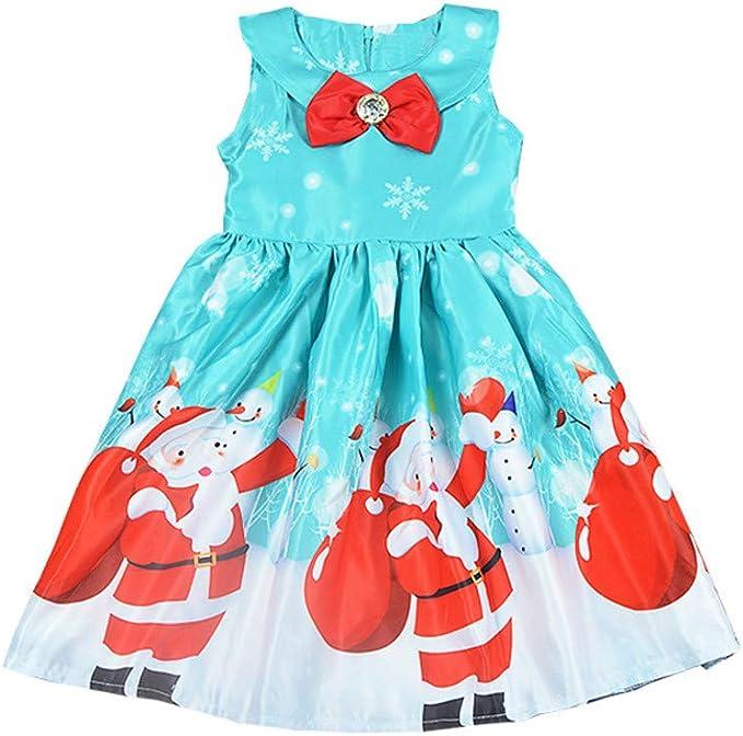 K-youth Vestidos para Niñas De Navidad Ropa para Bebe Niña Navidad ...