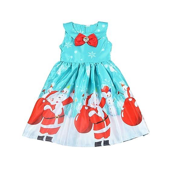 K-youth Vestidos para Niñas De Navidad Ropa para Bebe Niña Navidad Santa Claus Bowknot Vestidos De Fiesta para Niñas Elegantes Niña Disfraz Navidad ...