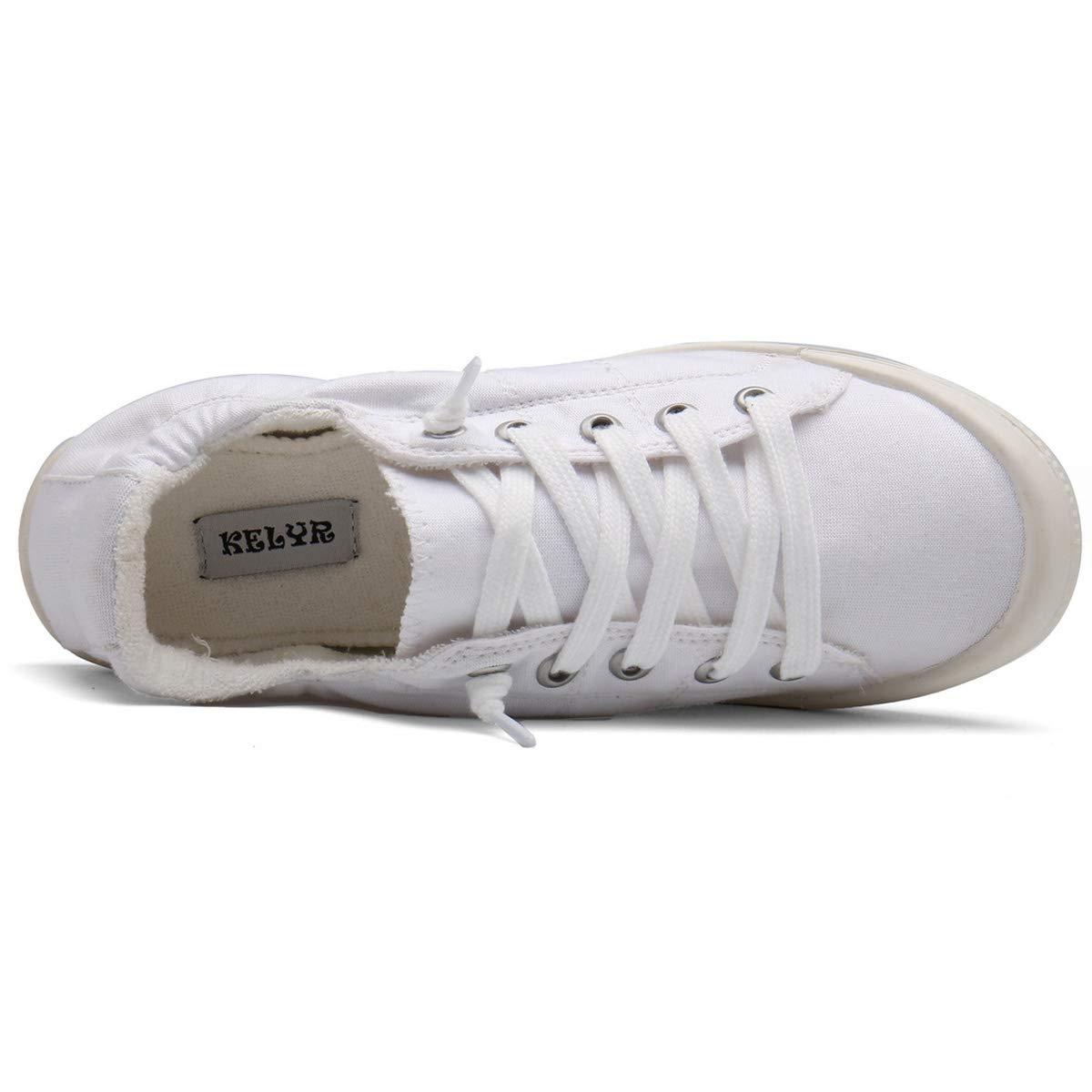KELYR Women\'s Fashion Sneaker Slip On Shoes Classic&Comfort,White