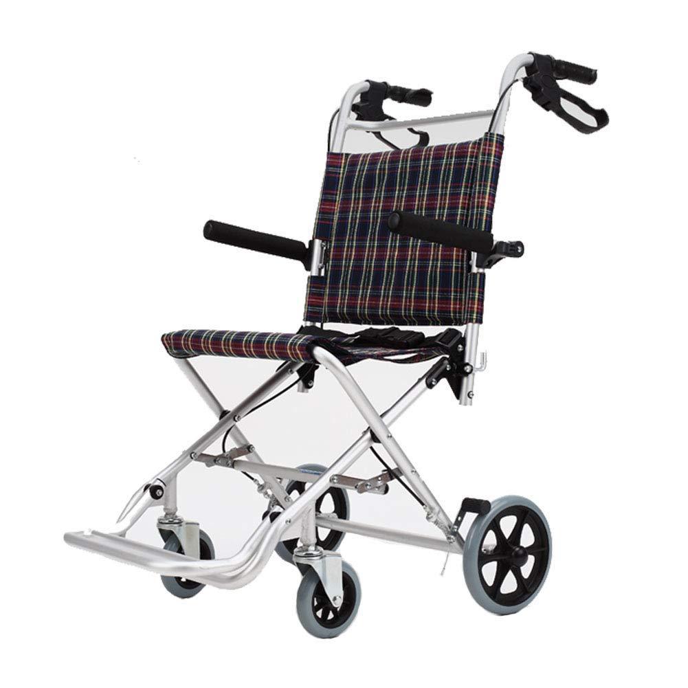YUNSHINE Silla de ruedas plegable plegable de la aleación de ...