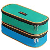 HugeStore Emoji Canvas Pencil Case Bag Pen Case Bag Cosmetic Bag Pencil Holder Container for Girls