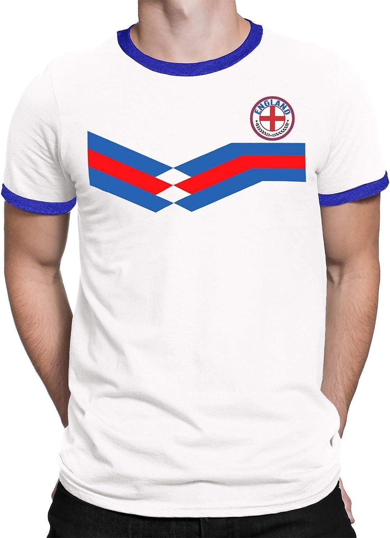 Tee Spirit England Camiseta Para Hombre World Cup 2018 Fútbol New Style Retro: Amazon.es: Ropa y accesorios