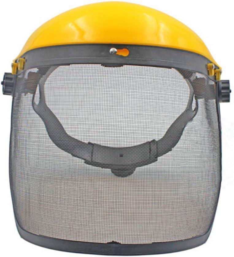 Pegcdu Máscara de malla diseño de seguridad protector de cara Segadora desbrozadora Protección motosierra protector ocular