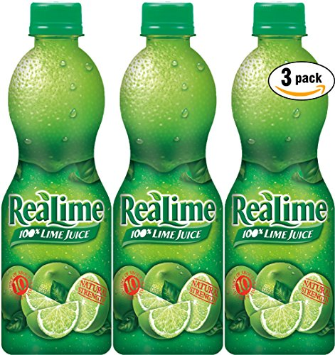 ReaLime 100% Lime Juice, 15oz Bottle (Pack of 3, Total of 45 Oz) by Realime