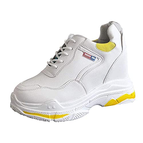 Zapatillas Deportivas Plataforma Cuña para Mujer,Moda Mujeres Aumentar Zapatos Casuales Desgaste Zapatos de Estudiante Zapatos de Running Zapato: Amazon.es: ...