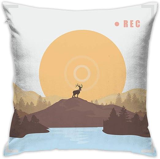 shizh Árboles Deer Forest Decor Throw Pillow Cover Funda de ...