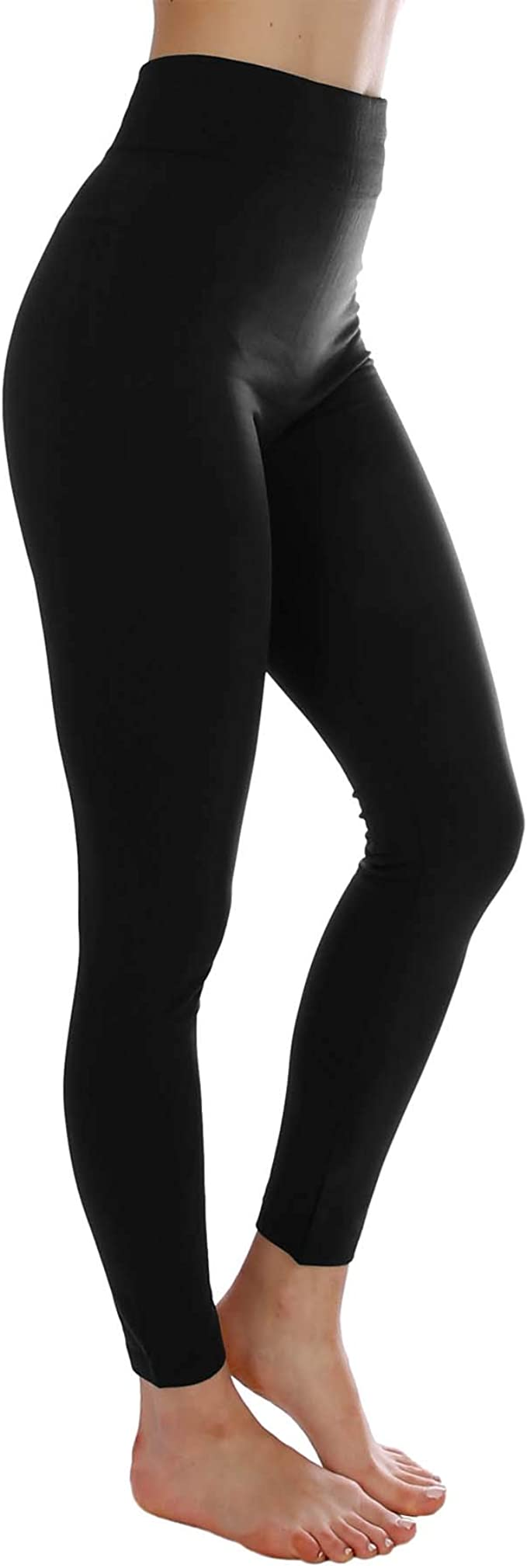 Ladies Women Winter Fleece Lined Warm Stretchy Thick Full Length Footless Tights