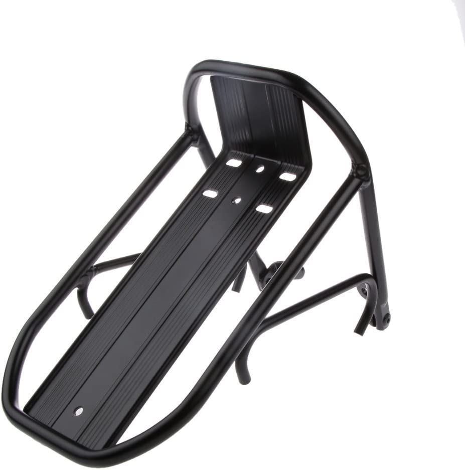 Height Adjustable Bike Rear Shelf Bicycle Touring Carrier Frame-Mounted for Heavier Top