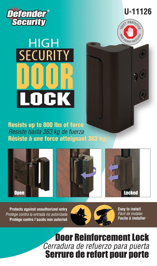 Defender Security U 11126 High Security Door Reinforcement Lock ...