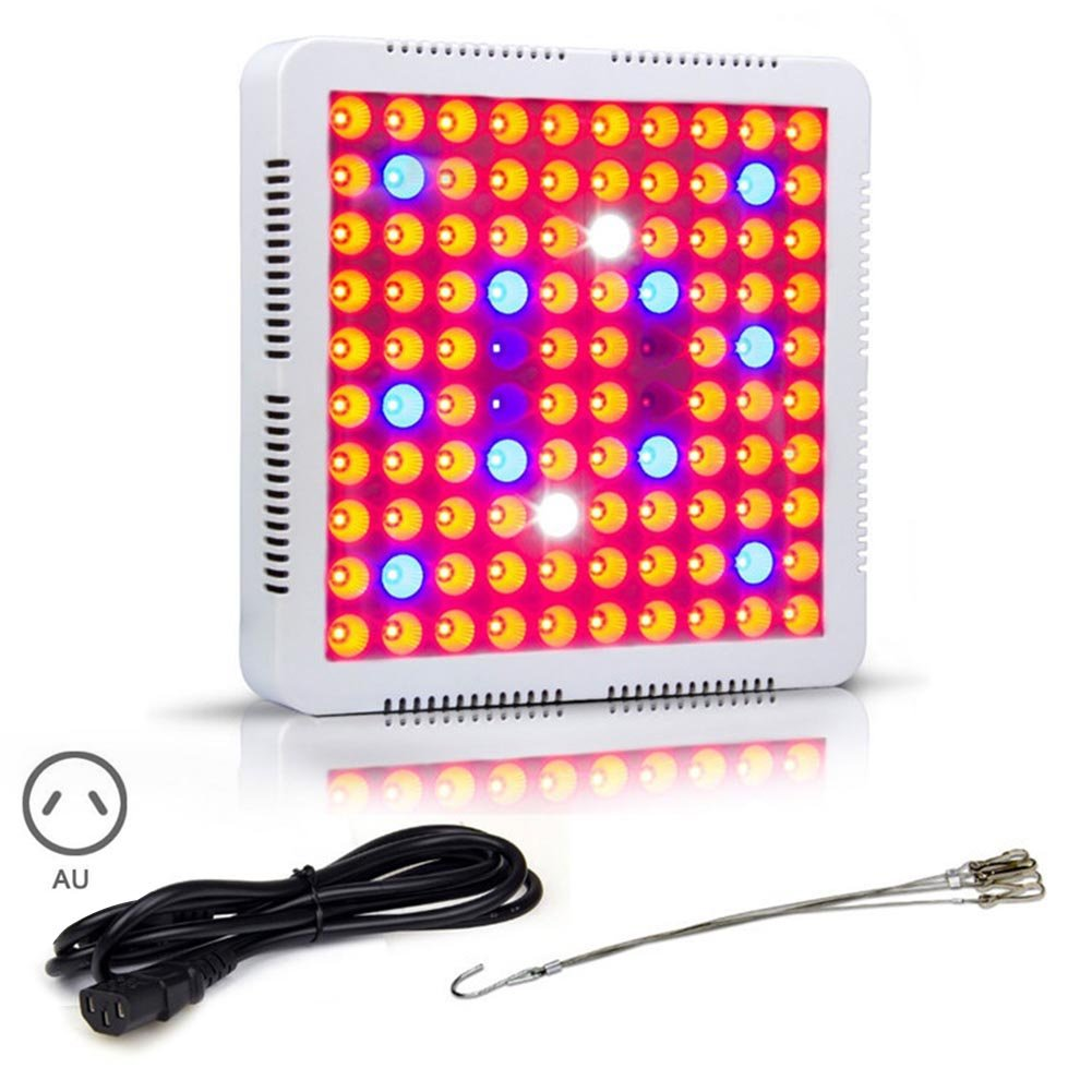 Cutogain 300W LED Plants Grow Light Vegetable Flower Indoor Growing 3030 100SMD Lights with Hanging Chain
