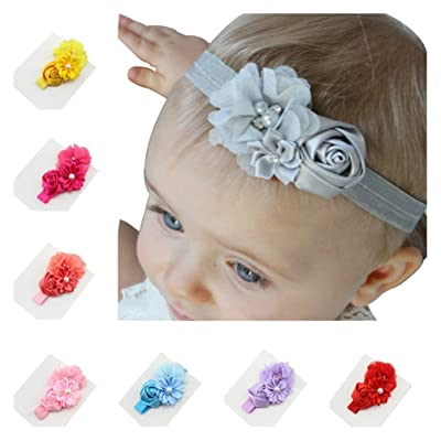 10pcs Hand Stitch Diamond Flower Hairband, Head band (Packed in assorted color)