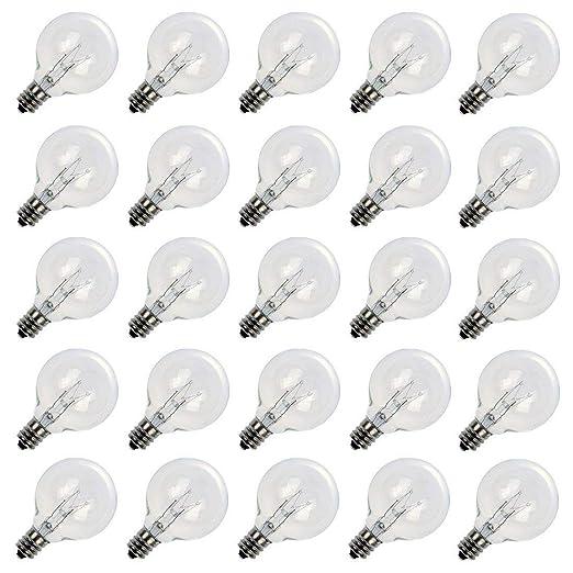 Amazon.com: Globe luces de cadena con cálido G40 bulbs-ul ...