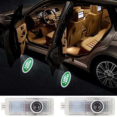 Car Door LED Logo HD Projector Lights Welcome Light for Land Rover Accessories Range Rover LR2 LR3 LR4 Land Rover Evoque Freelander 2-pc set: Automotive [5Bkhe0902859]