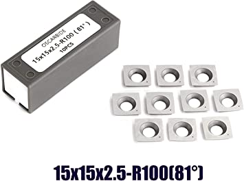 """10PCS 15mm Square 2/"""" Carbide Insert 4 Edge for Wood Working Turning Lathes Tool"""