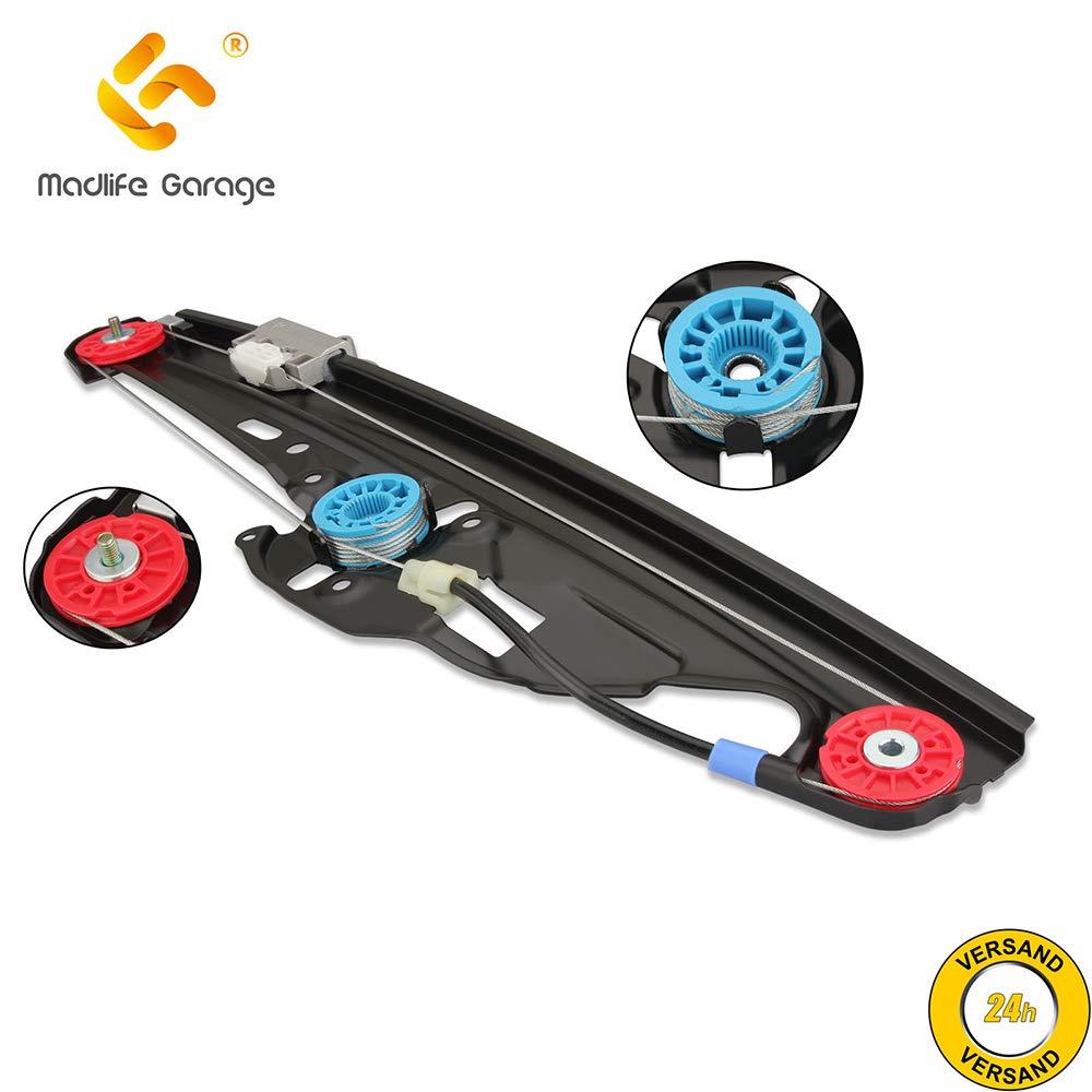 4//5 Puertas sin Motor Serie 5 E60 Serie 5 Touring E61 Trasero Derecho Madlife Garage Elevalunas el/éctrico 51357184746